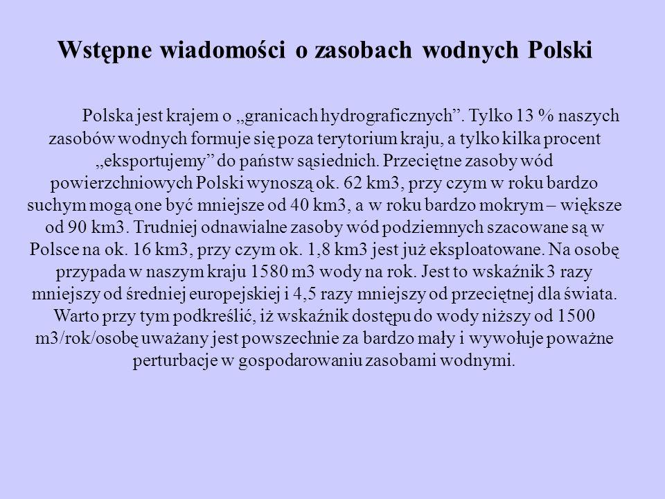 Wstępne wiadomości o zasobach wodnych Polski
