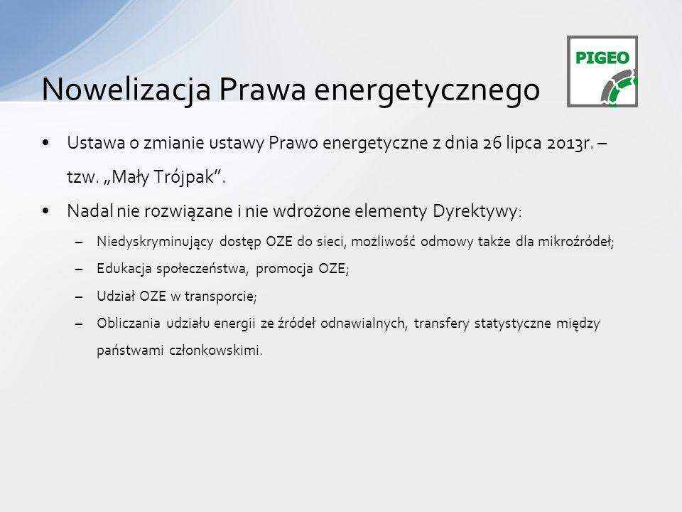 Nowelizacja Prawa energetycznego