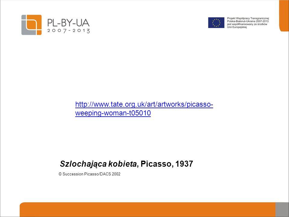 Szlochająca kobieta, Picasso, 1937
