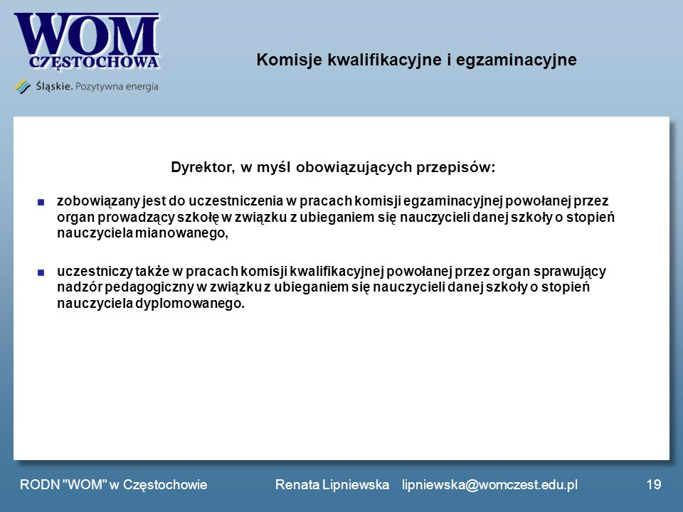Komisje kwalifikacyjne i egzaminacyjne