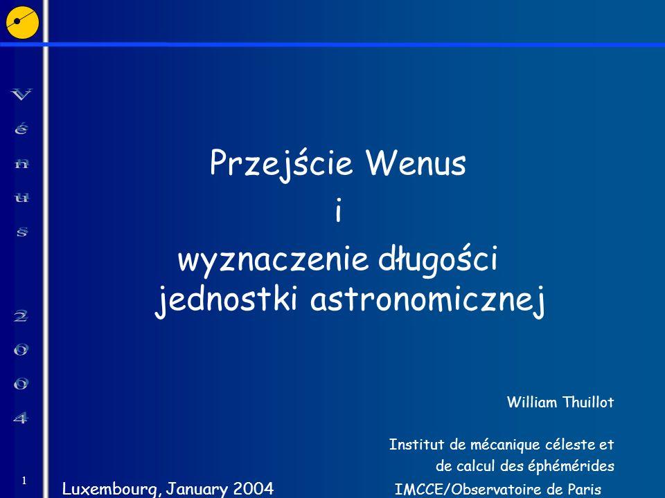 wyznaczenie długości jednostki astronomicznej