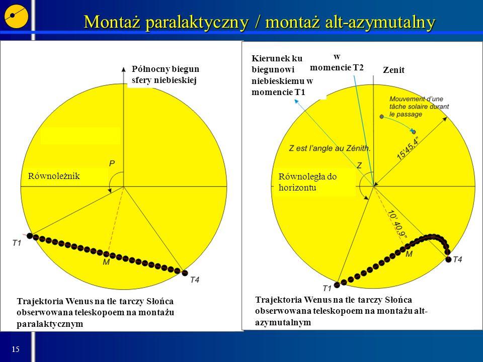 Montaż paralaktyczny / montaż alt-azymutalny