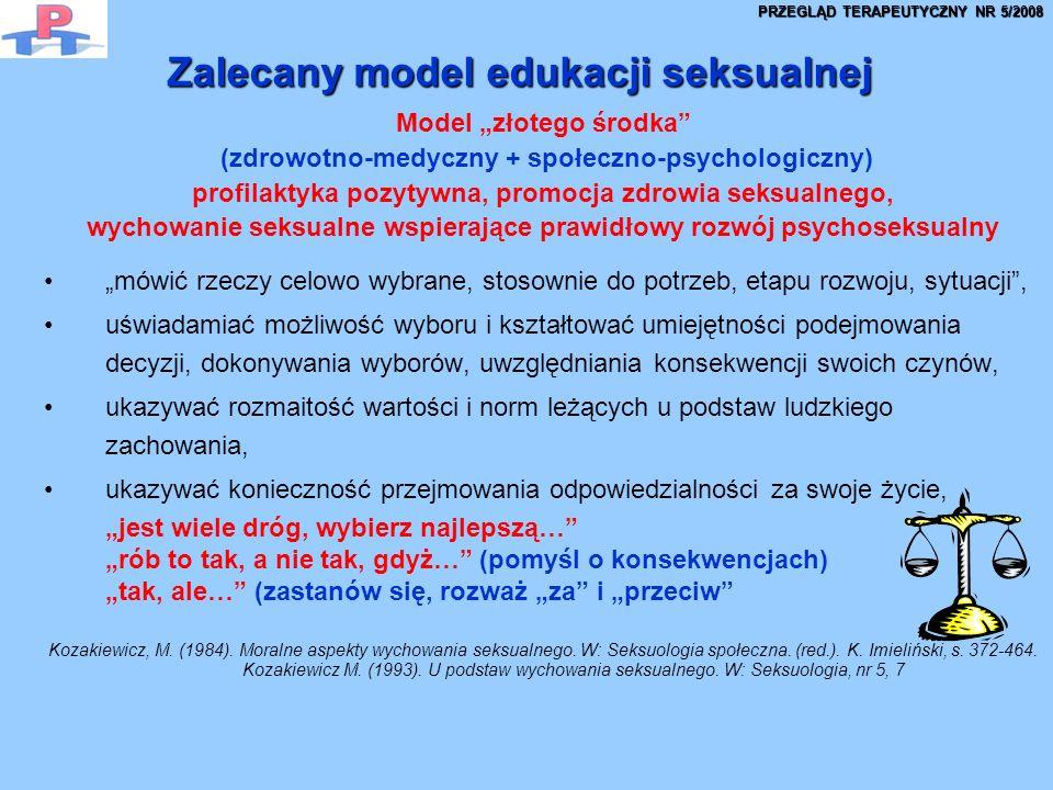 Zalecany model edukacji seksualnej