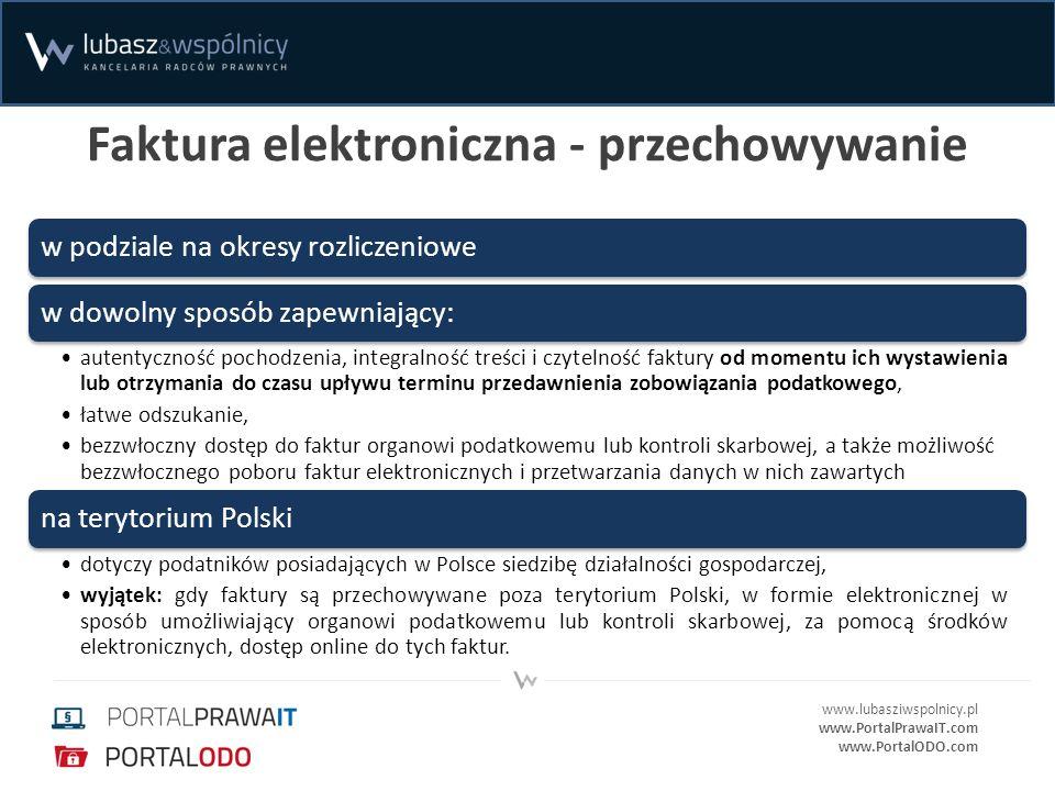 Faktura elektroniczna - przechowywanie