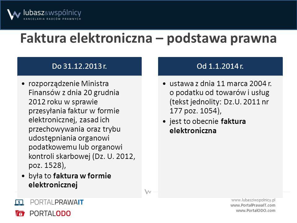 Faktura elektroniczna – podstawa prawna