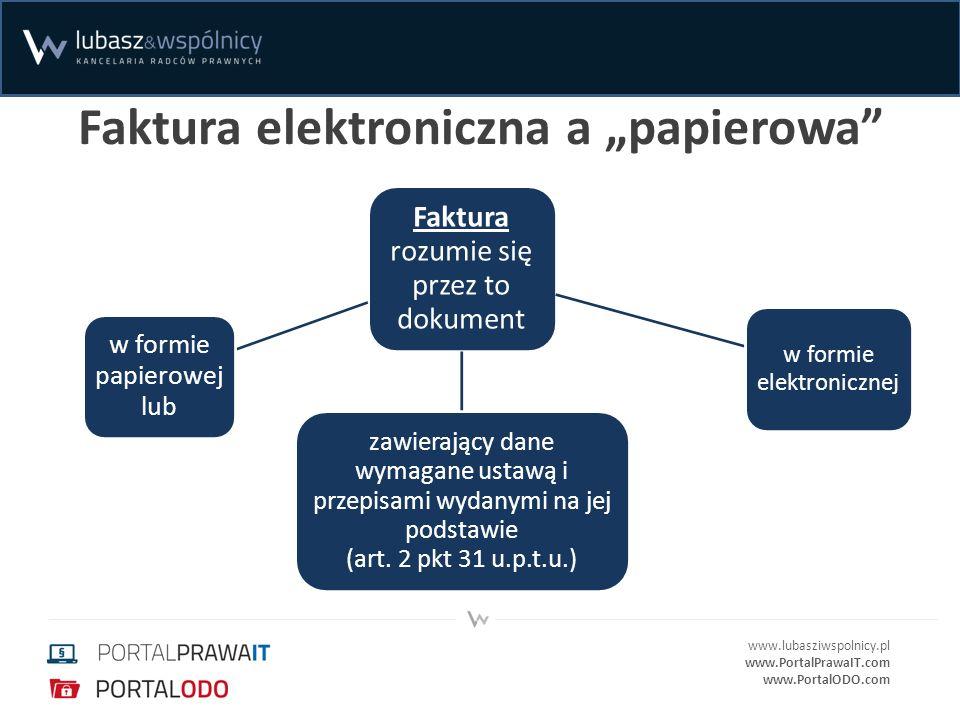 """Faktura elektroniczna a """"papierowa"""