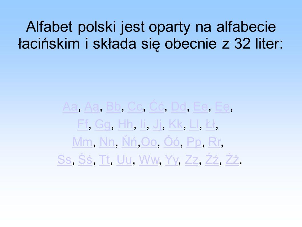 Alfabet polski jest oparty na alfabecie