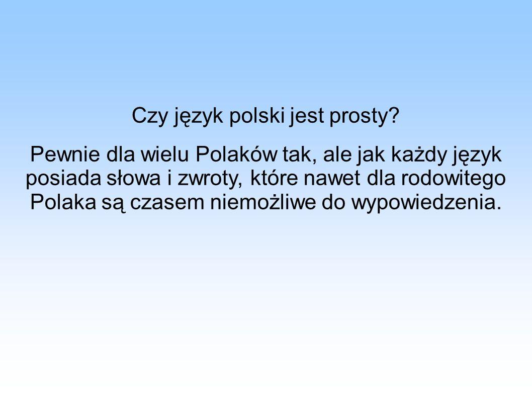 Czy język polski jest prosty