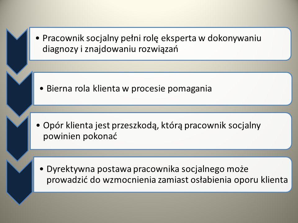 Pracownik socjalny pełni rolę eksperta w dokonywaniu diagnozy i znajdowaniu rozwiązań