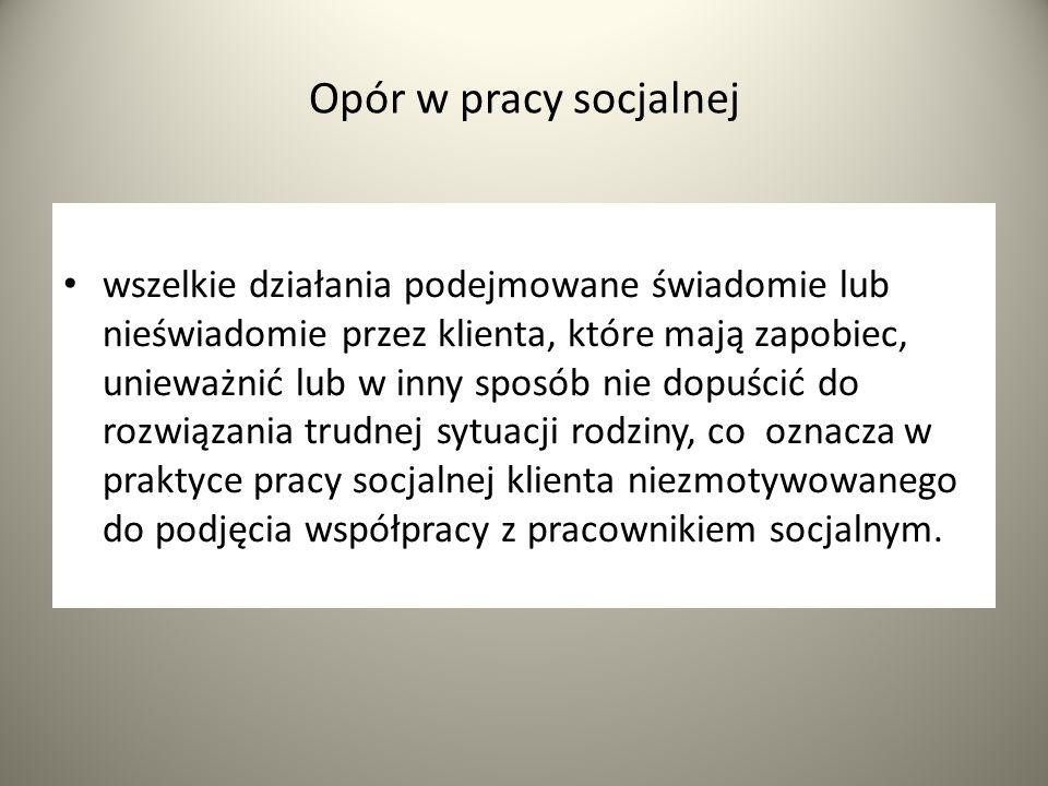 Opór w pracy socjalnej