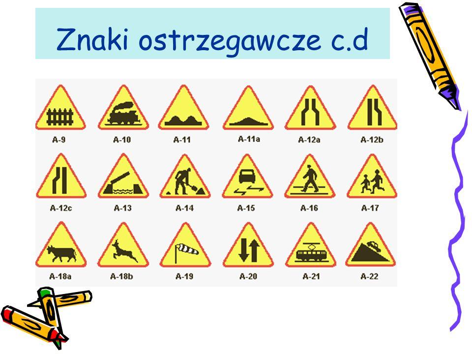 Znaki ostrzegawcze c.d