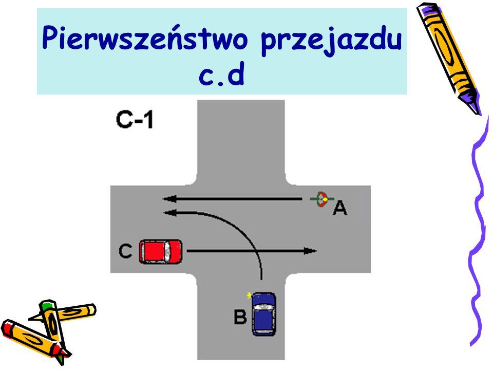 Pierwszeństwo przejazdu c.d