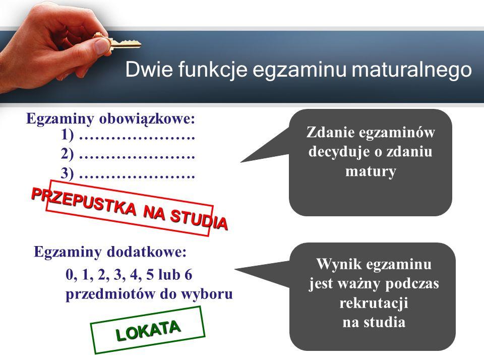 Dwie funkcje egzaminu maturalnego