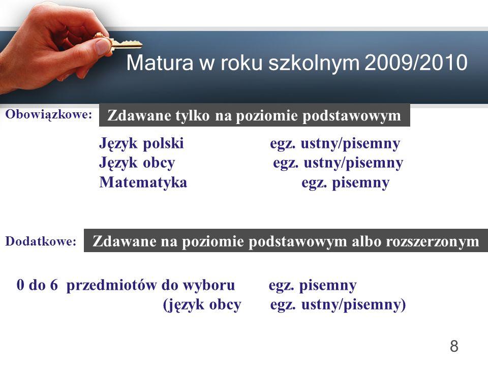 Matura w roku szkolnym 2009/2010