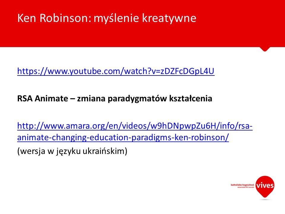 Ken Robinson: myślenie kreatywne