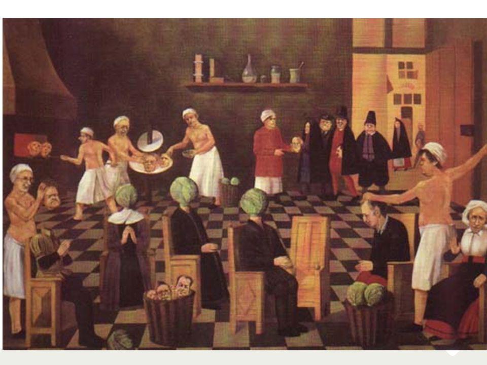 In de Middeleeuwen was men ervan overtuigd dat oude, mismaakte en versleten mensen vernieuwd konden worden door het drinken van een levenselixir, het baden in de fontein der verjonging of het herbakken in een oven. Bij het herbakken hakte men het hoofd van de romp, herkneedde en herschilderde men het en bakte het in de oven. Ondertussen plaatste men een groene kool op het lichaam (symbool van het ijle, lege hoofd). Na het bakken van het nieuwe hoofd werd dat terug op het lichaam geplaatst en kon men jong en herboren weer verder.