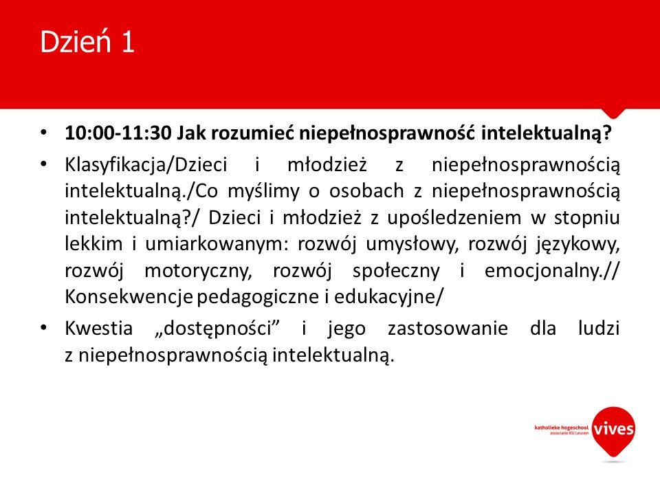 Dzień 1 10:00-11:30 Jak rozumieć niepełnosprawność intelektualną