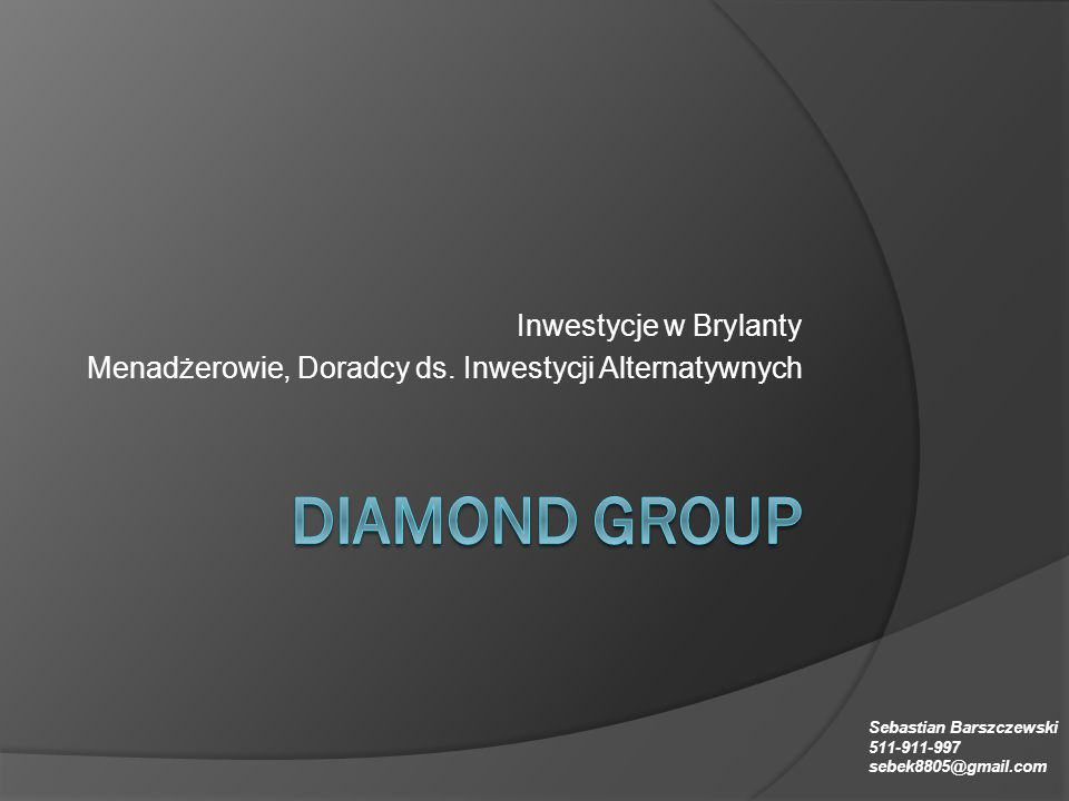 Diamond group Inwestycje w Brylanty