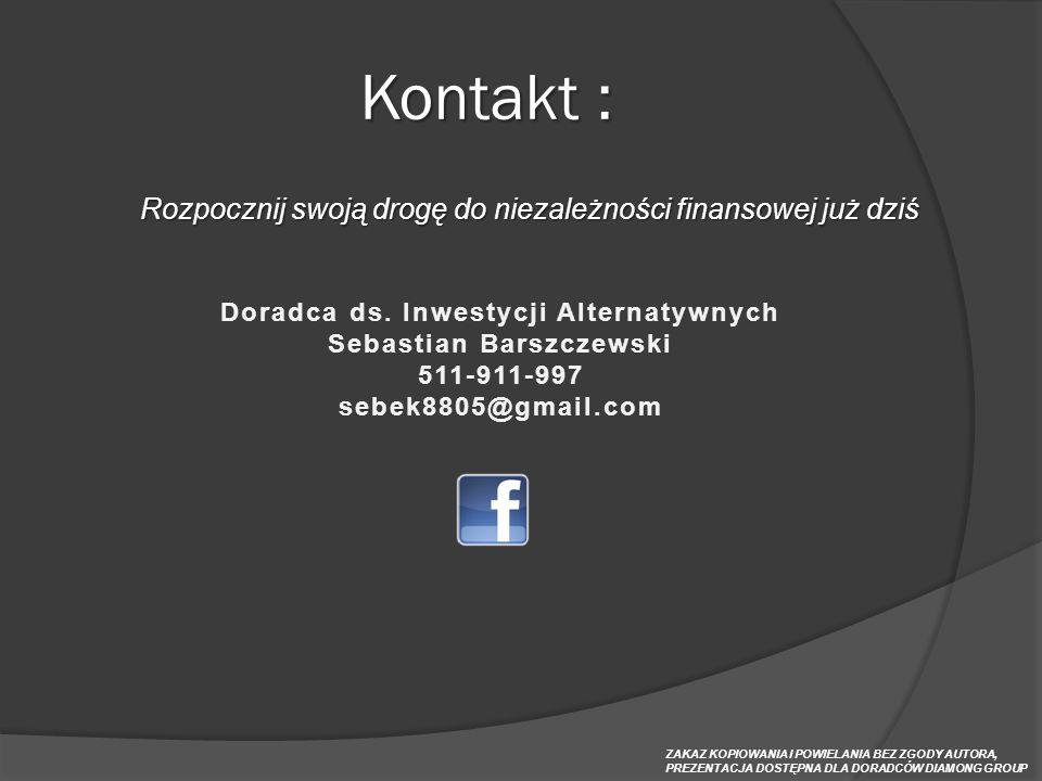 Doradca ds. Inwestycji Alternatywnych Sebastian Barszczewski
