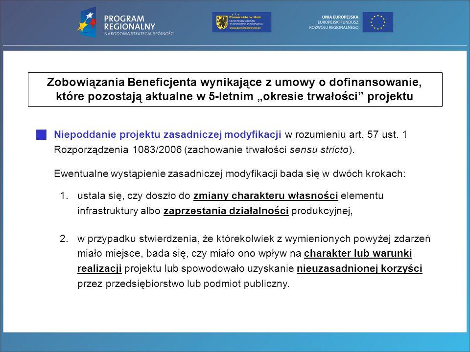 Zobowiązania Beneficjenta wynikające z umowy o dofinansowanie,