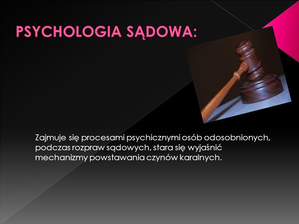 PSYCHOLOGIA SĄDOWA: