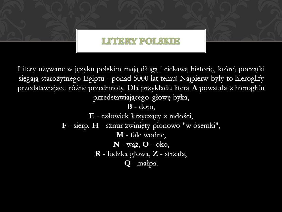 Litery polskie