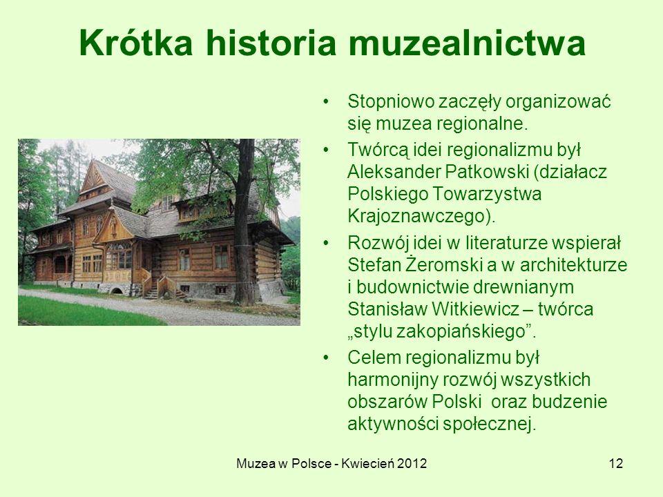 Krótka historia muzealnictwa
