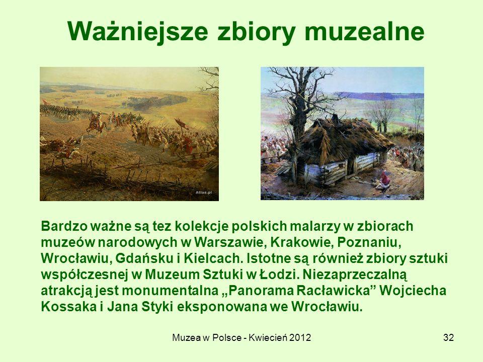 Ważniejsze zbiory muzealne