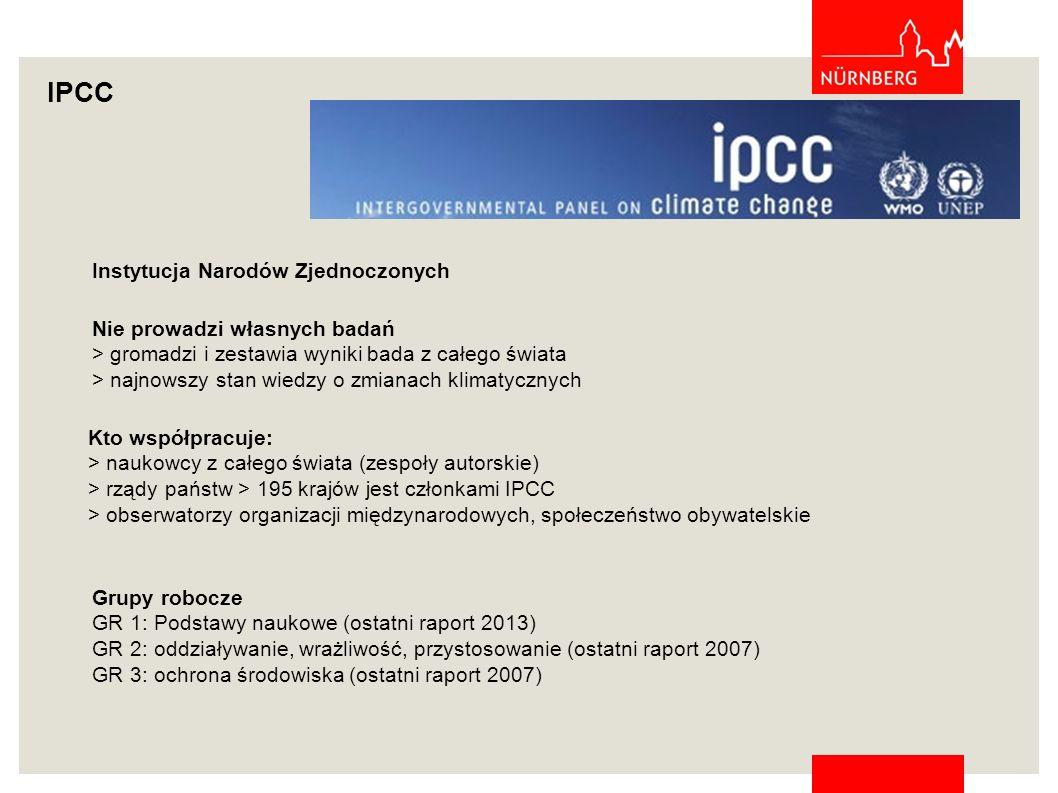 IPCC Instytucja Narodów Zjednoczonych Nie prowadzi własnych badań