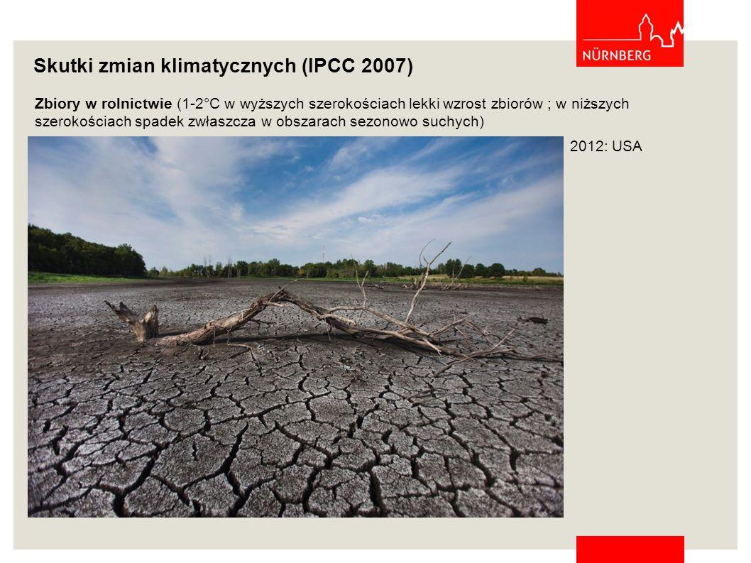 Skutki zmian klimatycznych (IPCC 2007)
