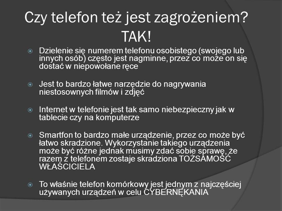 Czy telefon też jest zagrożeniem TAK!