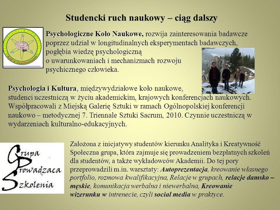 Studencki ruch naukowy – ciąg dalszy