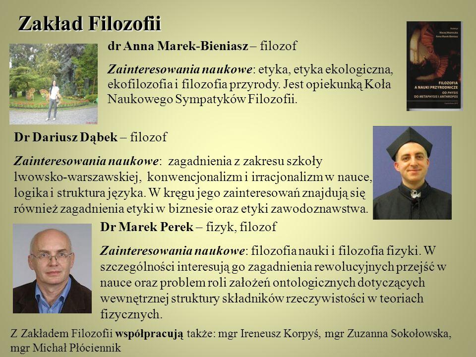 Zakład Filozofii dr Anna Marek-Bieniasz – filozof