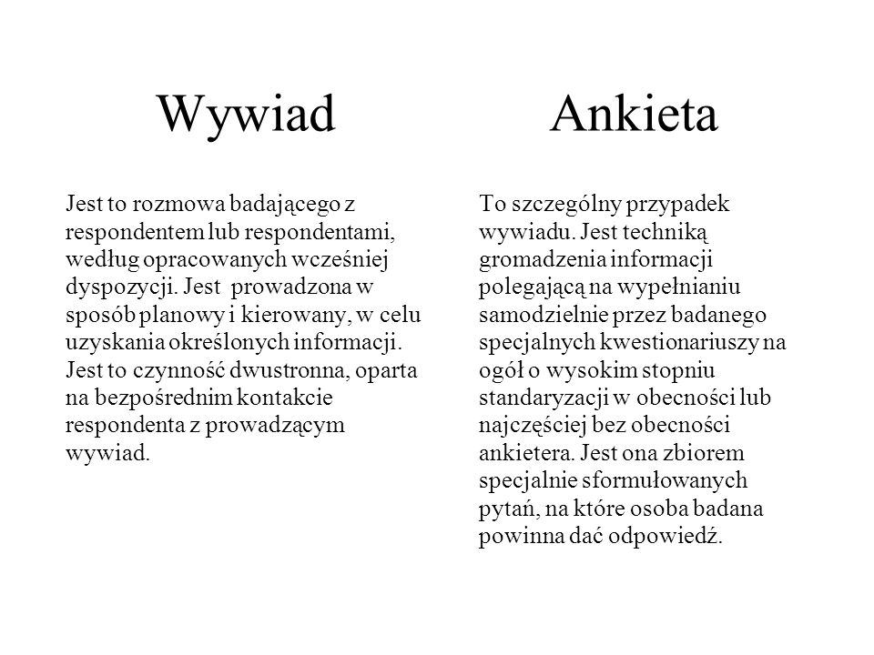 Wywiad Ankieta