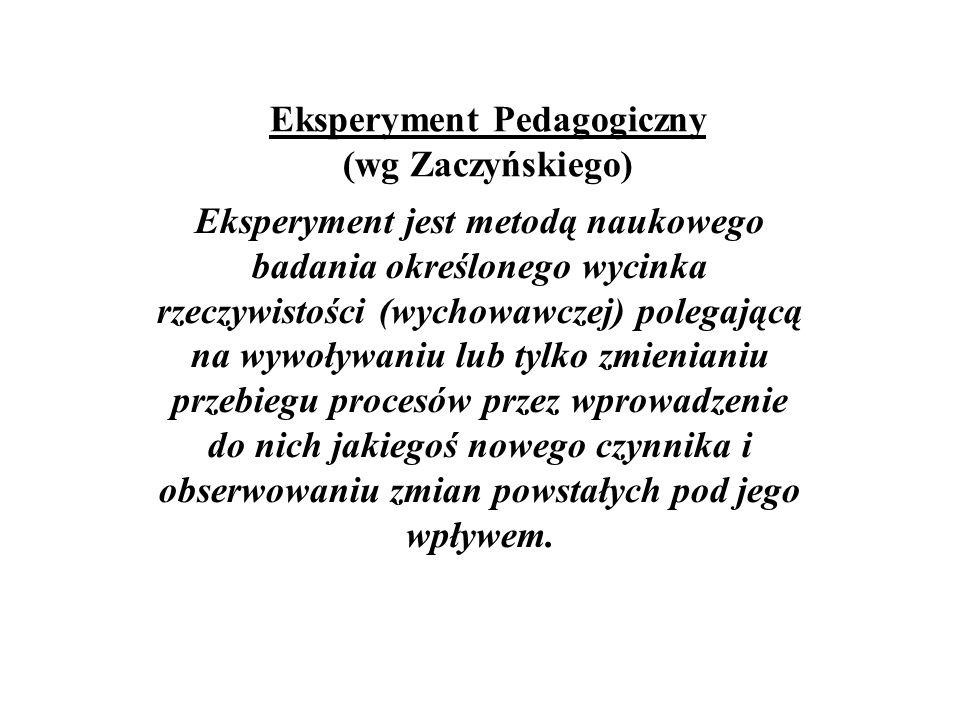 Eksperyment Pedagogiczny (wg Zaczyńskiego)