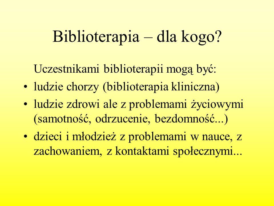 Biblioterapia – dla kogo