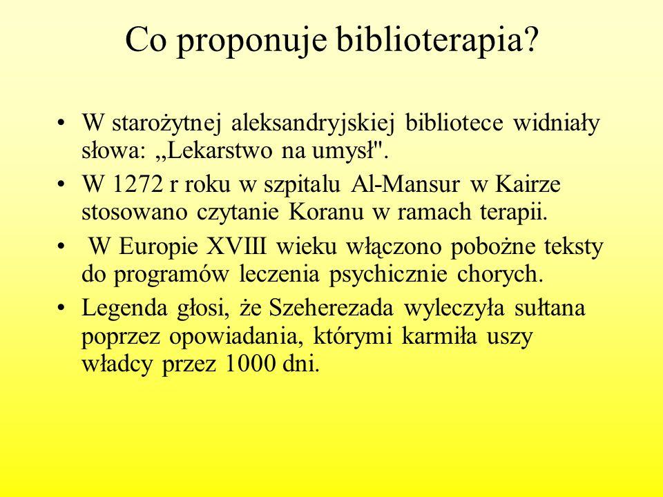 Co proponuje biblioterapia