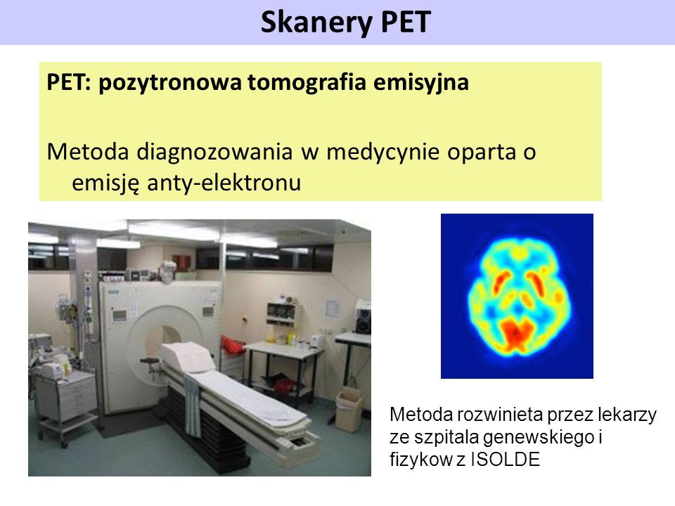 Skanery PET PET: pozytronowa tomografia emisyjna