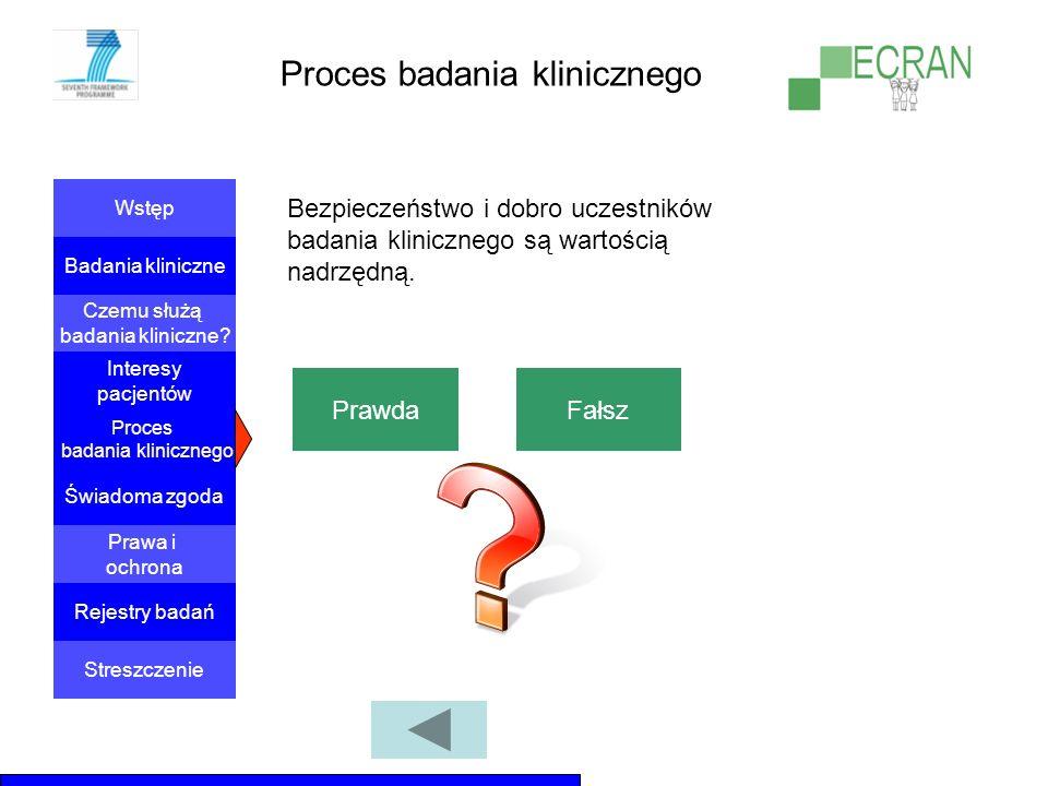 Proces badania klinicznego