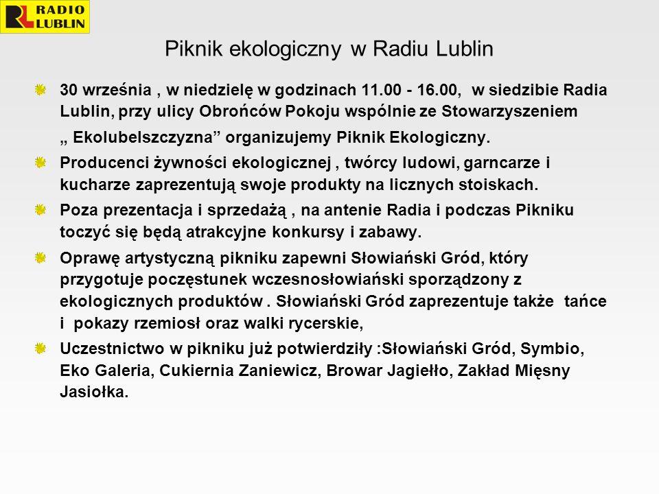 Piknik ekologiczny w Radiu Lublin