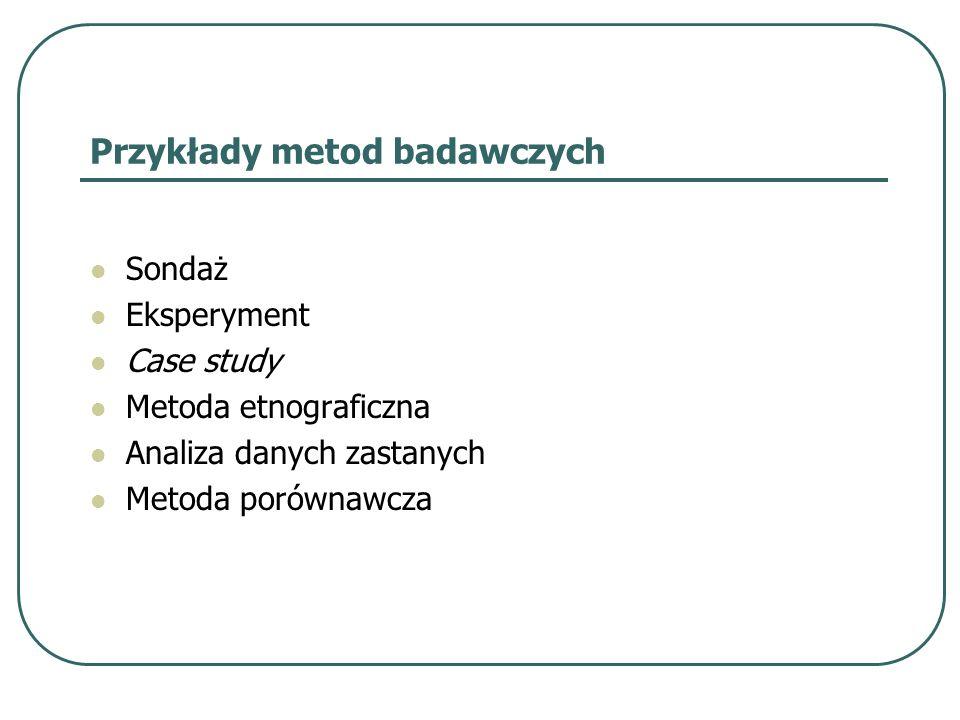 Przykłady metod badawczych