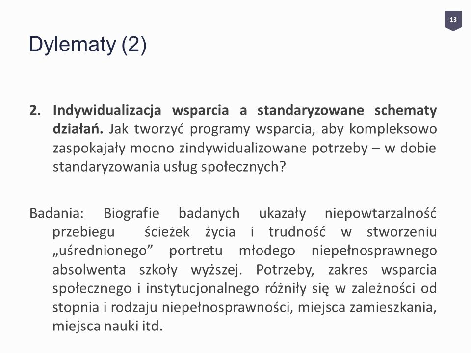 13 Dylematy (2)