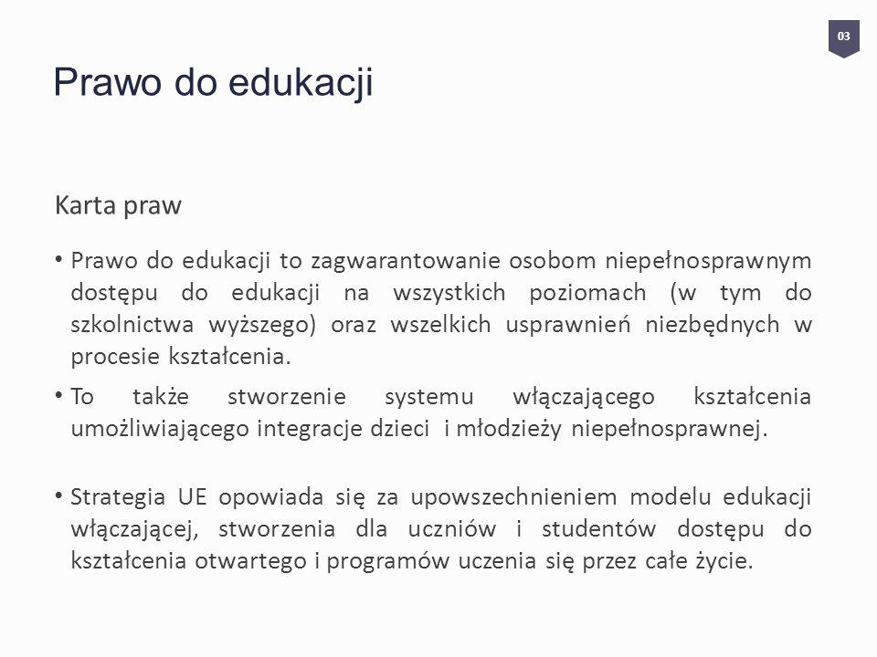Prawo do edukacji Karta praw