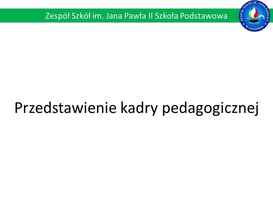Przedstawienie kadry pedagogicznej