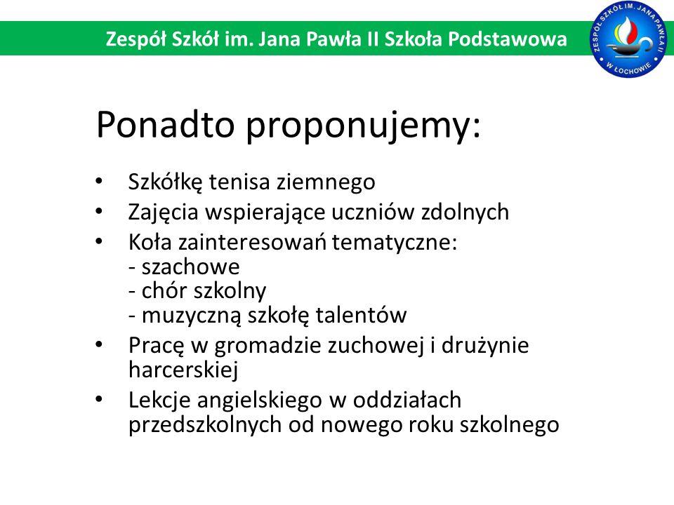 Zespół Szkół im. Jana Pawła II Szkoła Podstawowa