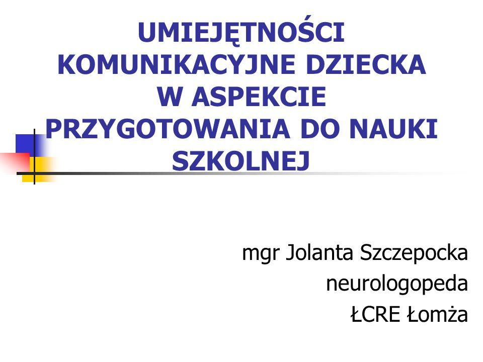 mgr Jolanta Szczepocka neurologopeda ŁCRE Łomża