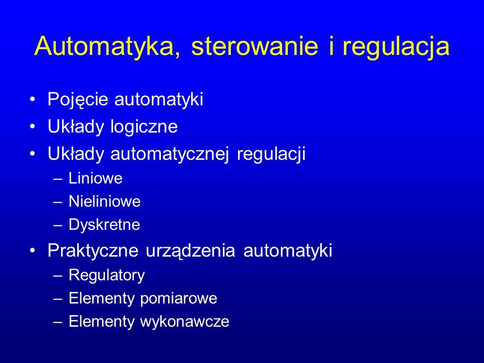 Automatyka, sterowanie i regulacja