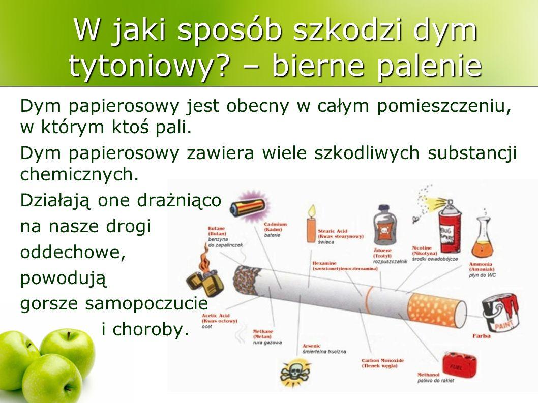 W jaki sposób szkodzi dym tytoniowy – bierne palenie