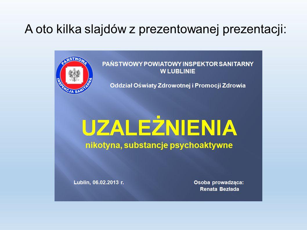 A oto kilka slajdów z prezentowanej prezentacji: