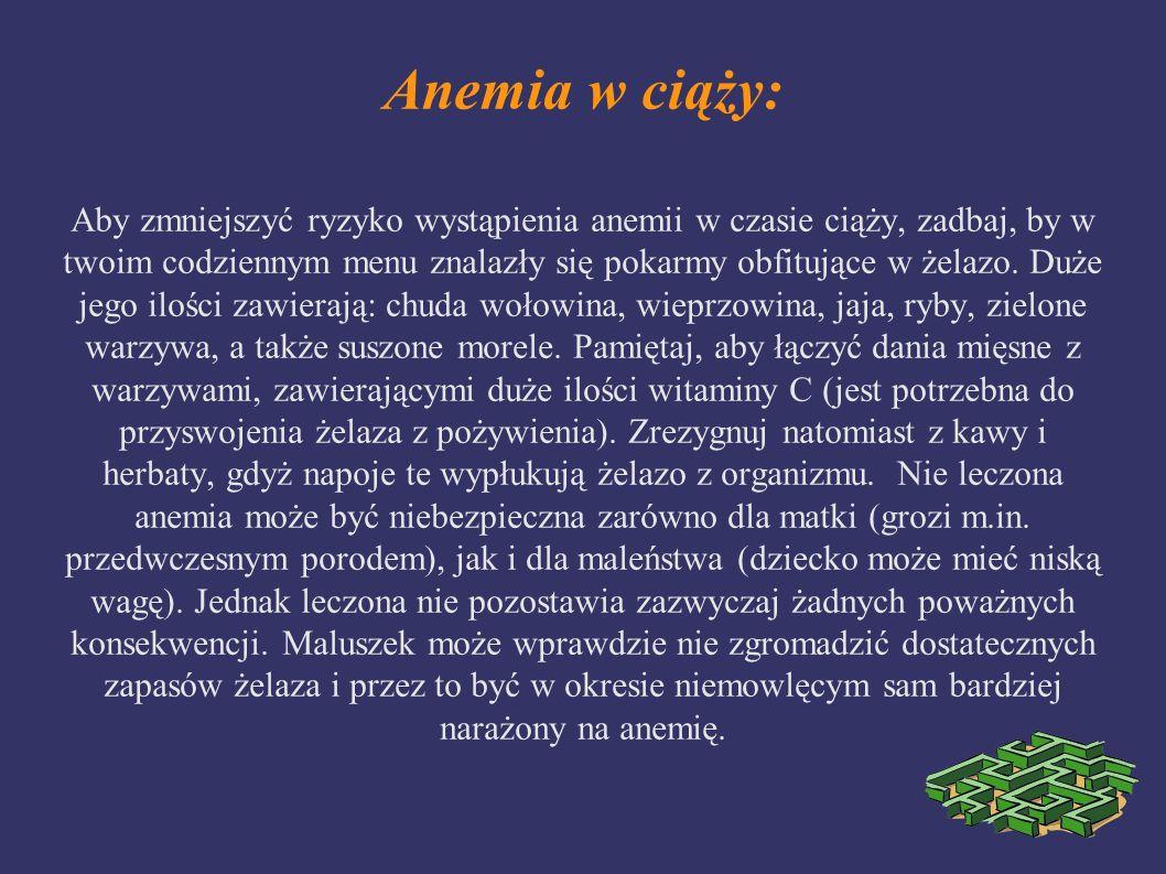 Anemia w ciąży: